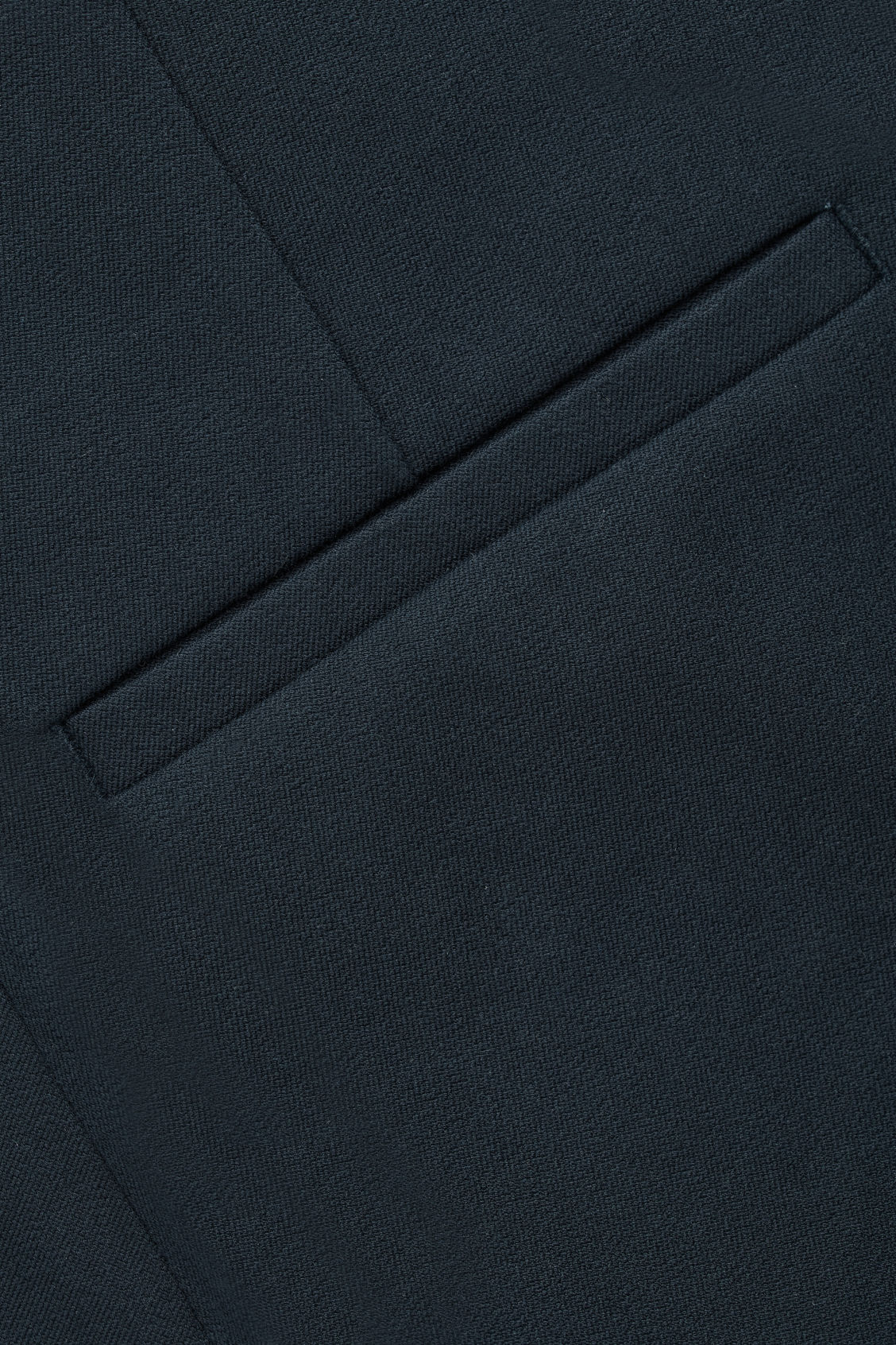 Side image of Cos slim cotton-twill trousers in blue