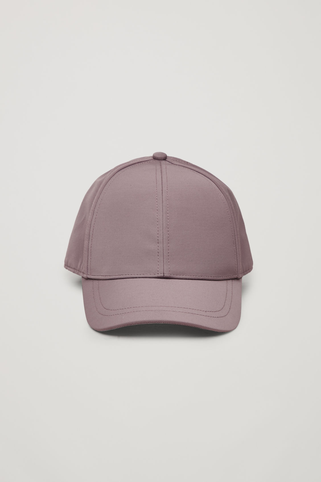 Side image of Cos baseball cap in purple