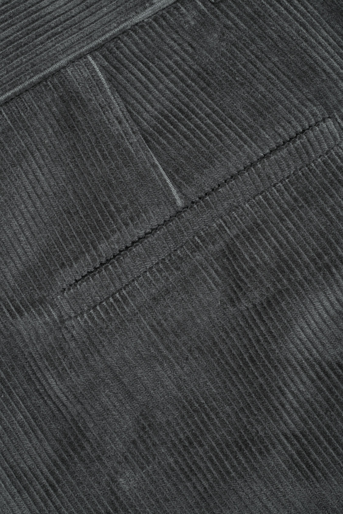 Side image of Cos tapered corduroy trousers in grey