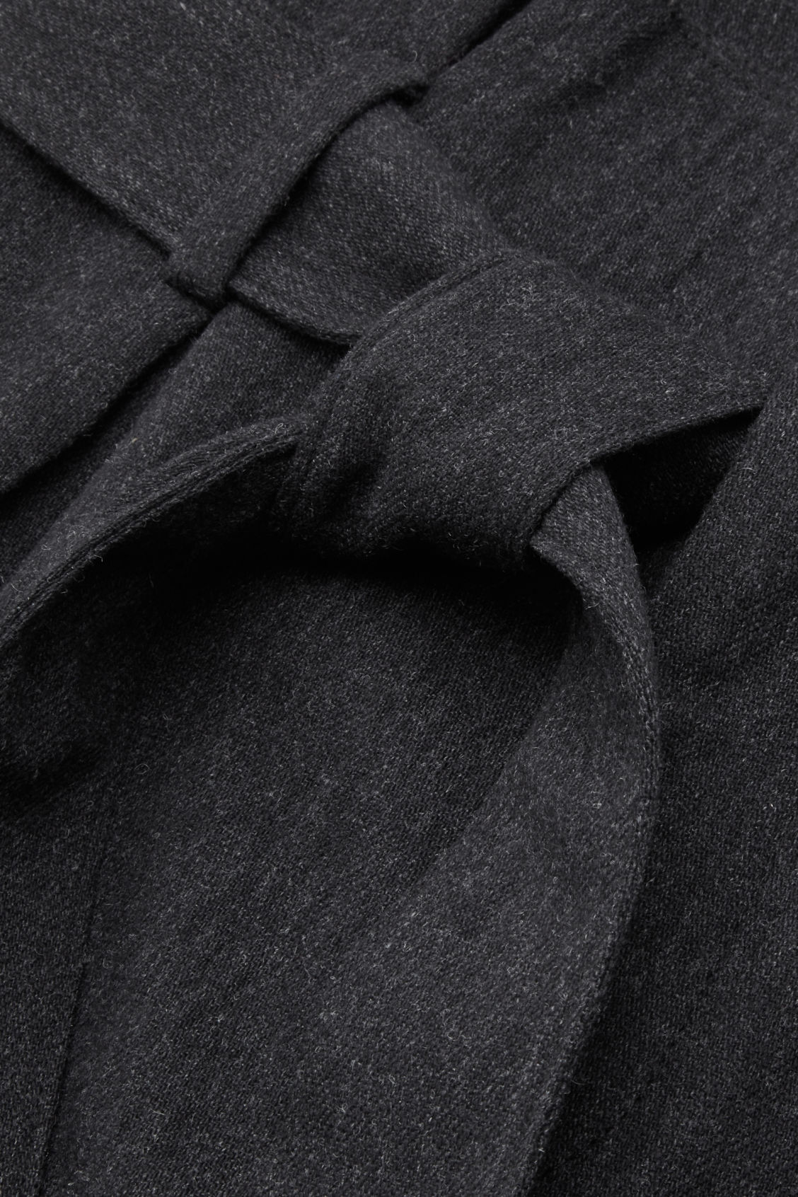 Side image of Cos belted wool trousers  in grey