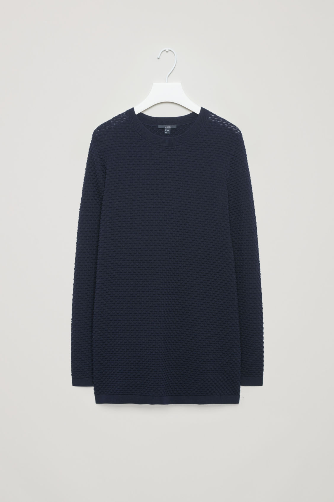 6f92e853bfb4 TEXTURED COTTON JUMPER - Indigo - Knitted tops - COS