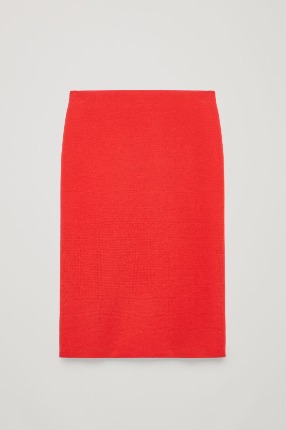 Front image of Cos wool pencil skirt  in red