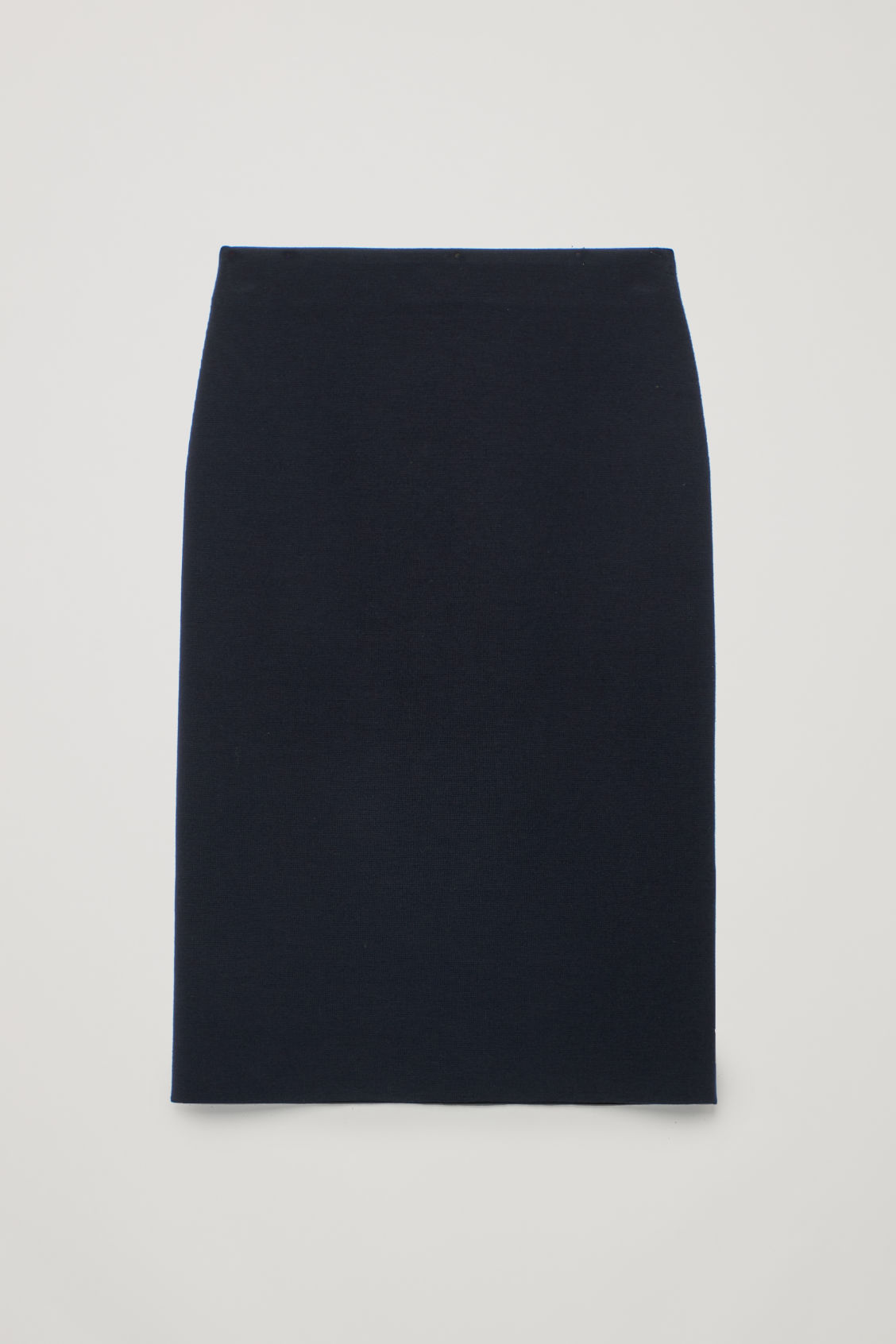 Front image of Cos wool pencil skirt  in blue