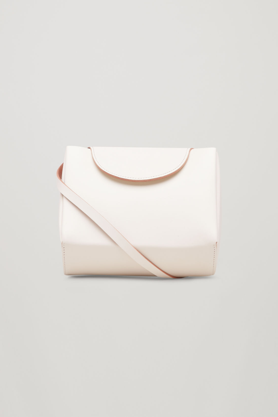 Front image of Cos structured leather bag  in white