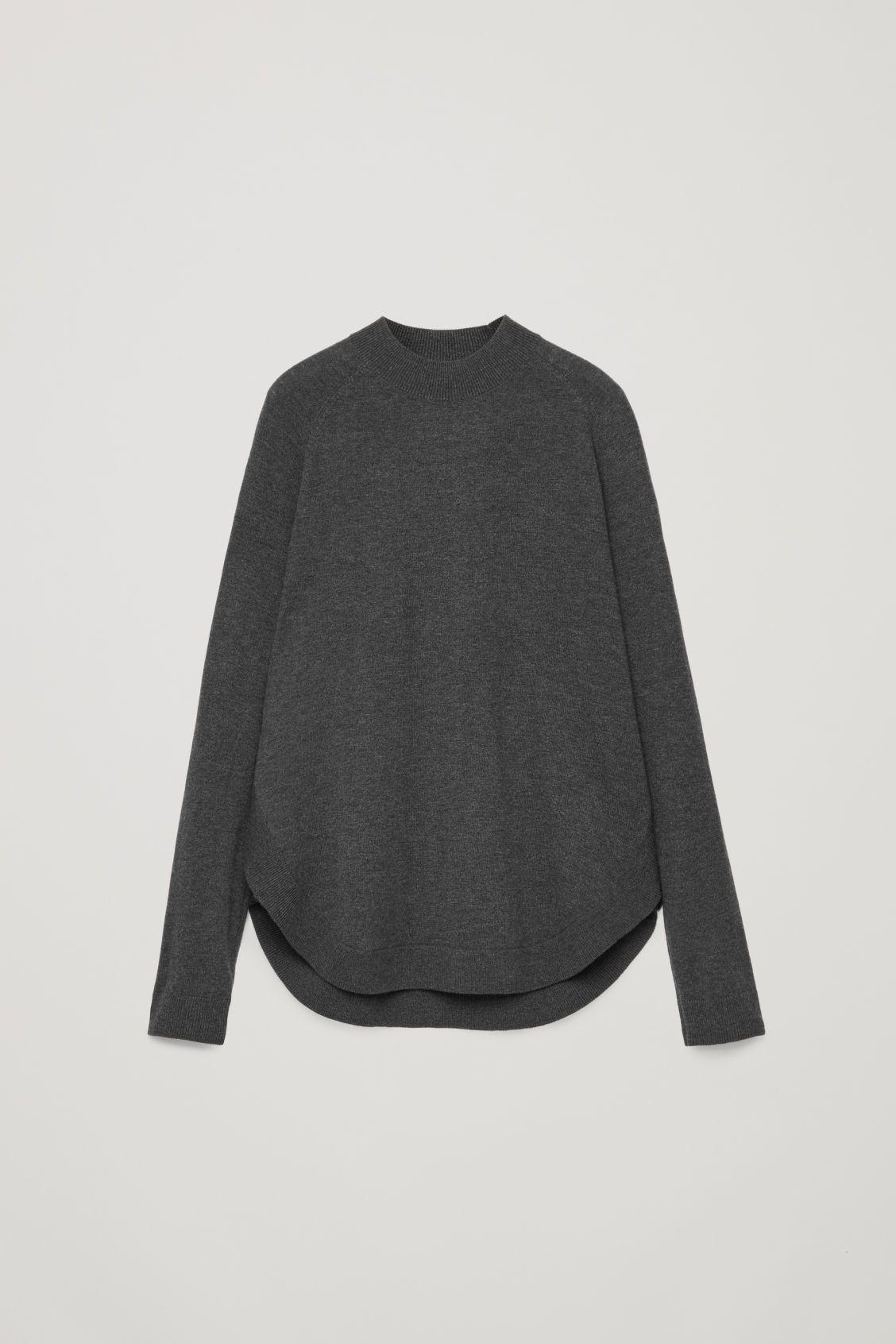 Front image of Cos round-hem wool jumper in grey