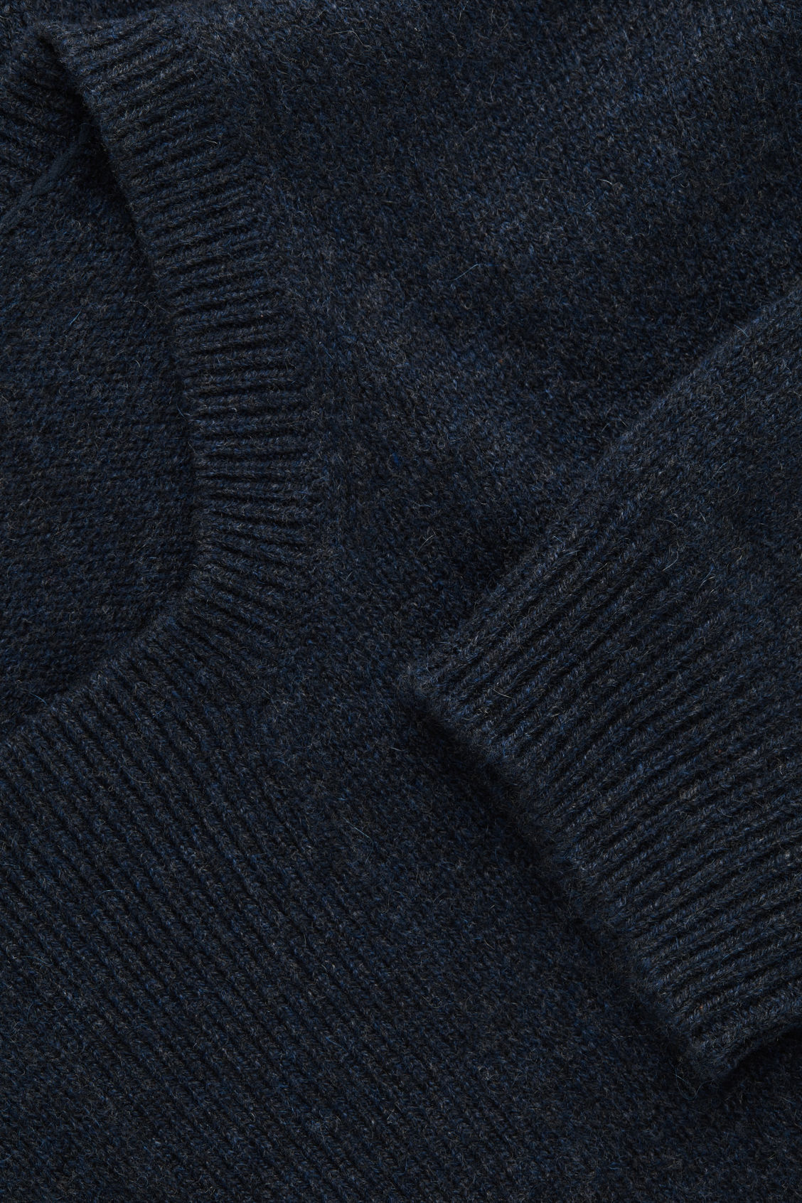 Side image of Cos stitch-detailed cashmere jumper in blue
