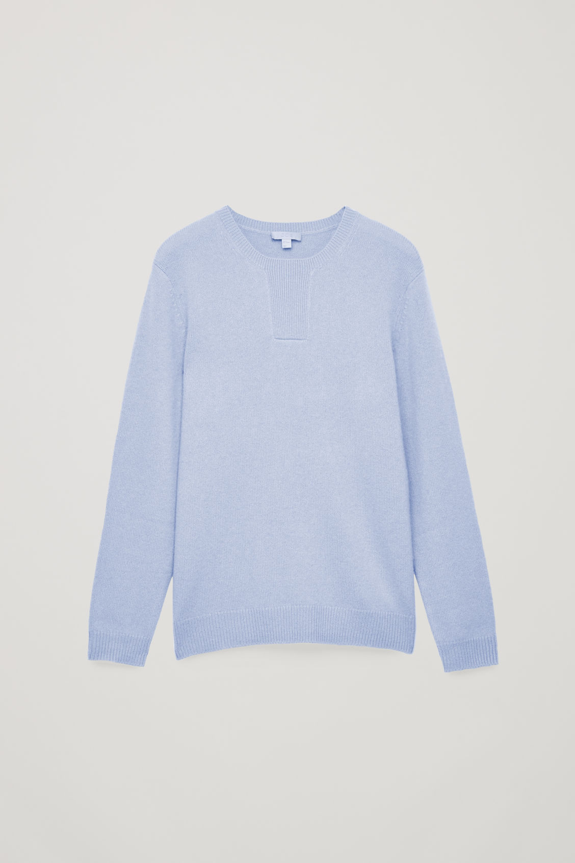 Front image of Cos stitch-detailed cashmere jumper in blue