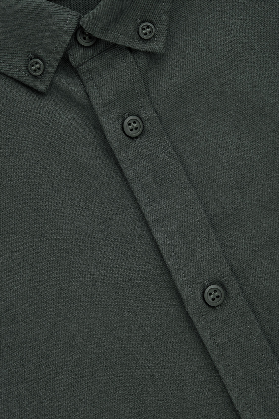 Side image of Cos cotton button-down shirt  in green