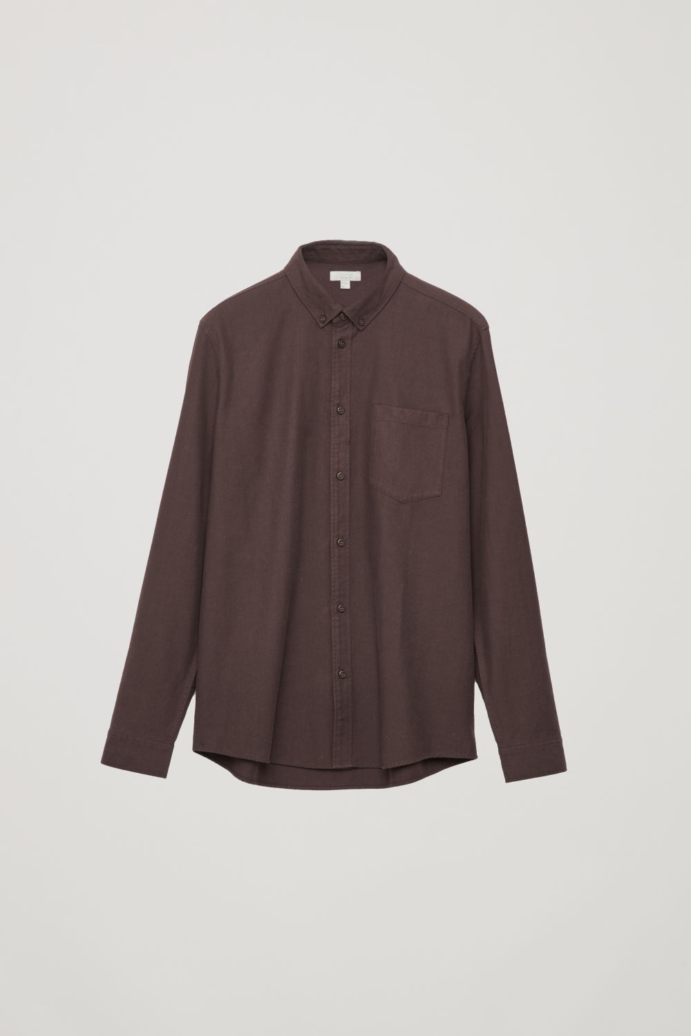 Front image of Cos cotton button-down shirt  in red