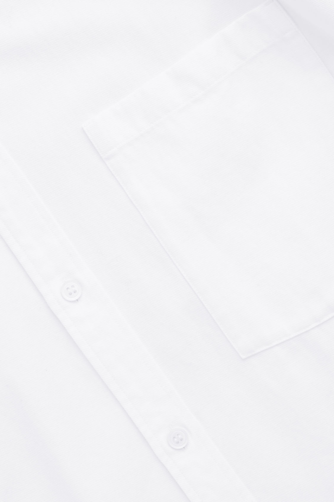 Side image of Cos cotton button-down shirt  in white