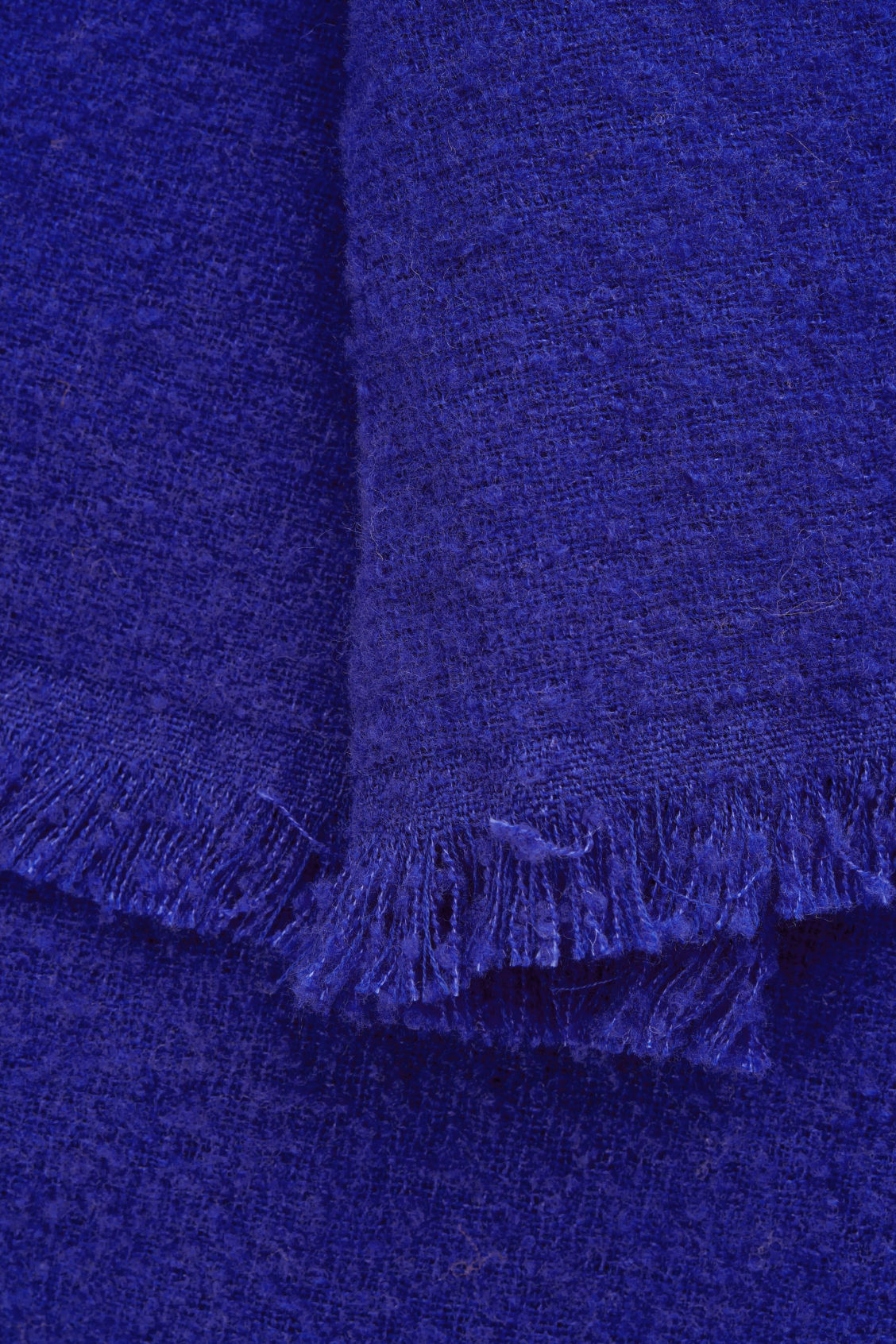 Side image of Cos wool blanket scarf  in blue