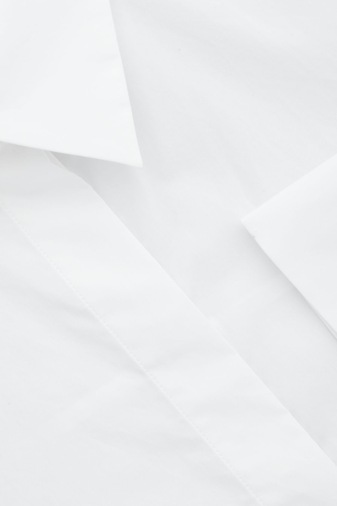 Side image of Cos cocoon cotton-poplin shirt  in white