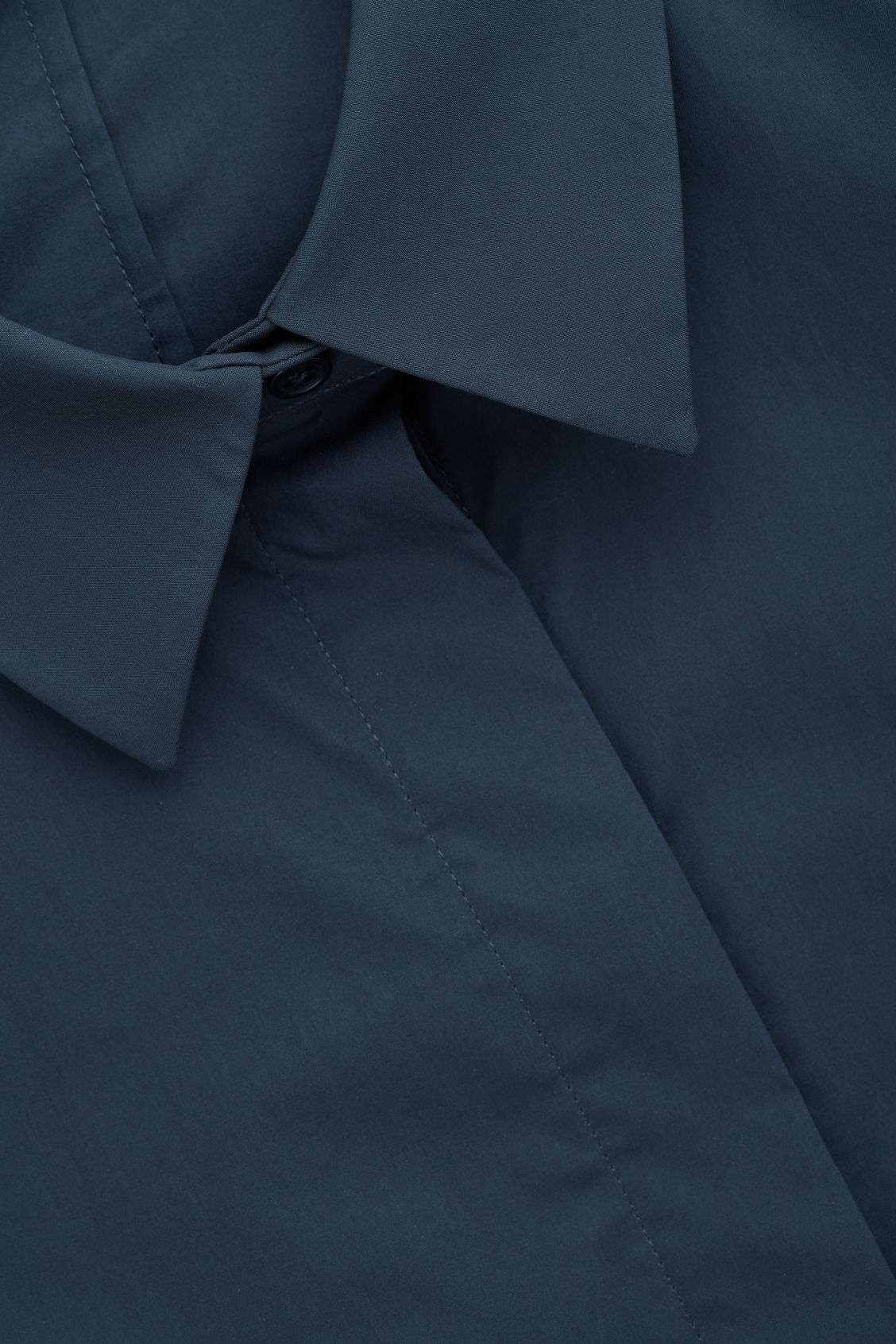 Side image of Cos cocoon cotton-poplin shirt  in blue