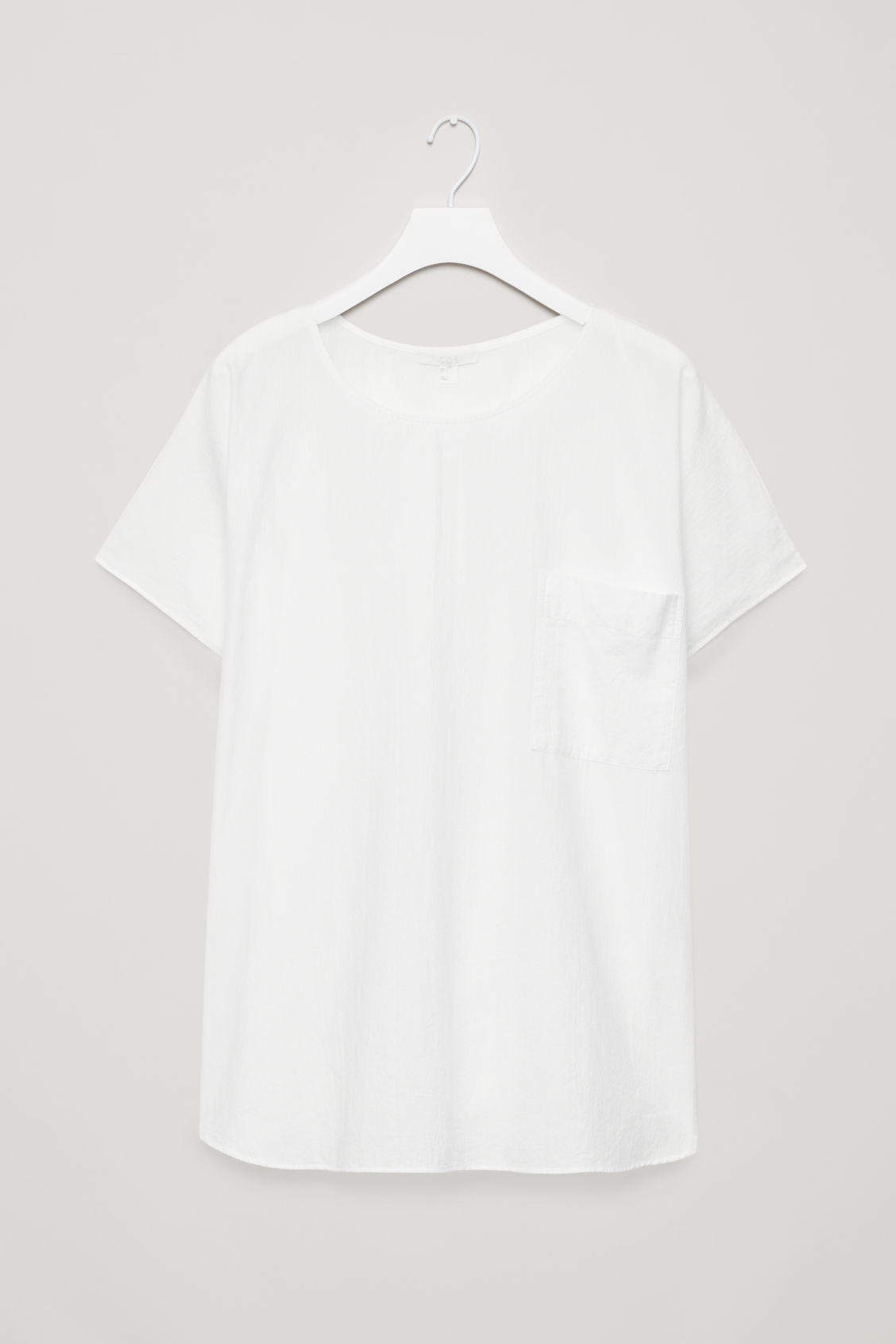 Front image of Cos oversized cotton top in white