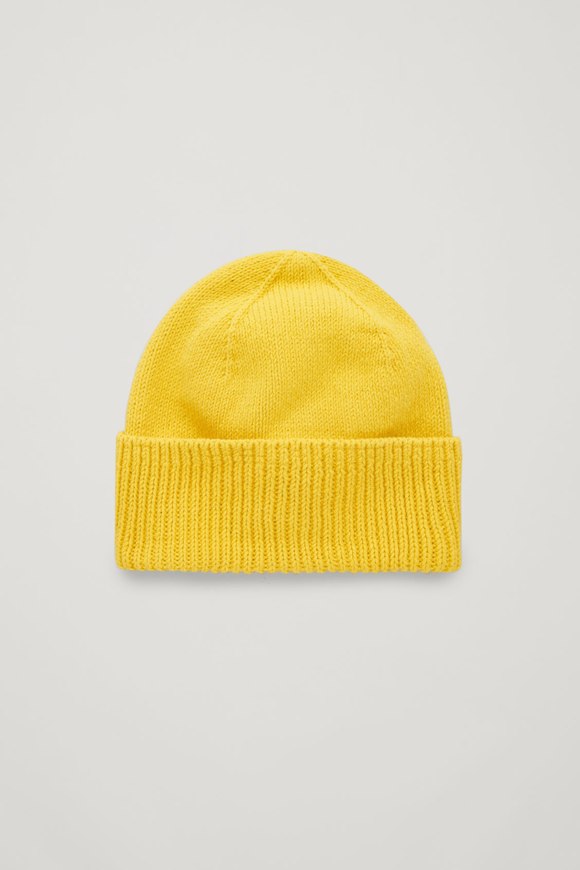 Front image of Cos cotton beanie in yellow
