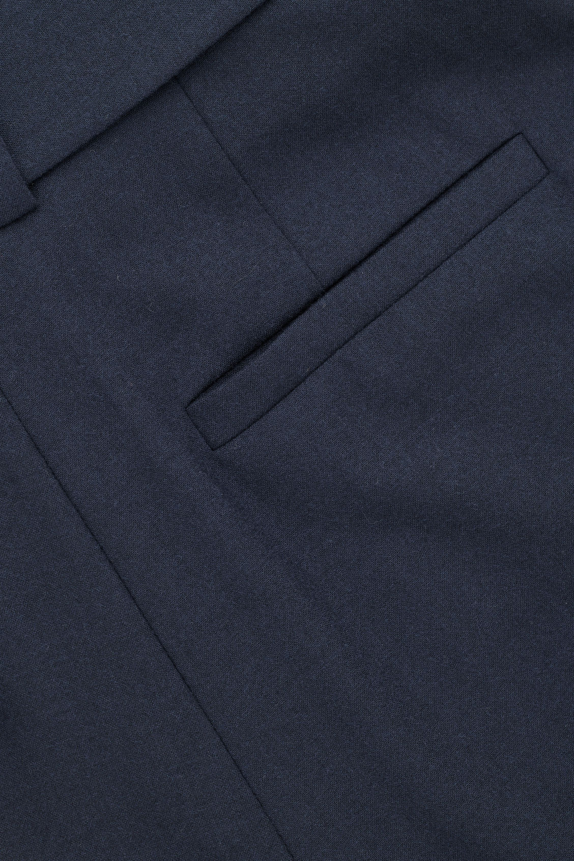 Side image of Cos wool trousers with pleated waist  in blue