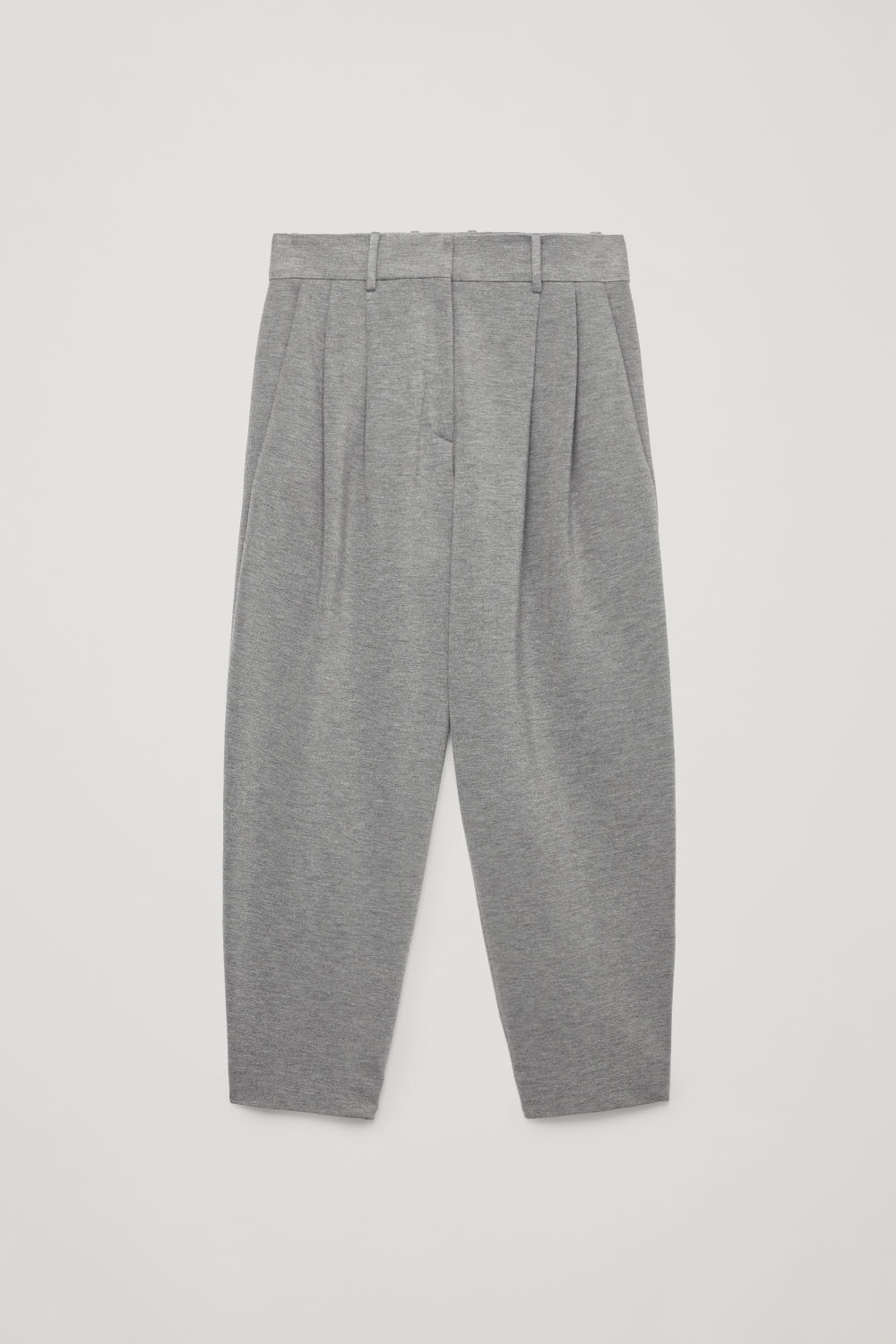 Front image of Cos relaxed jersey trousers  in grey