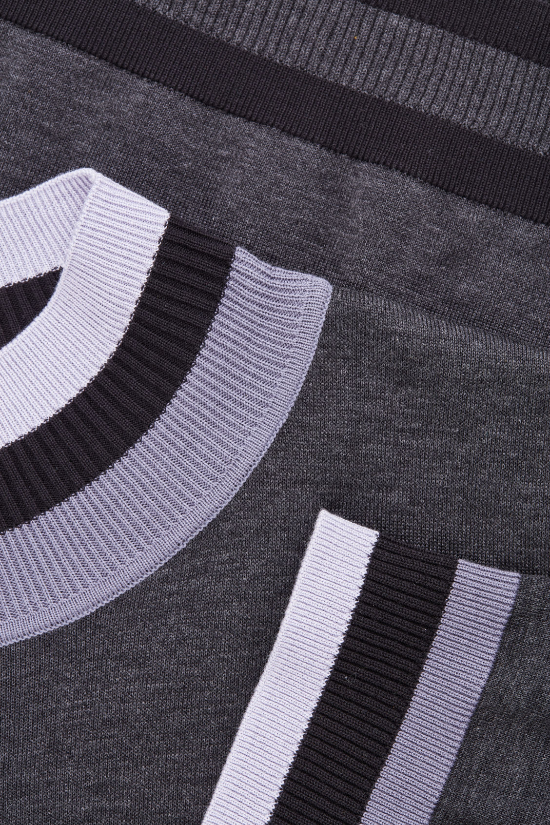 Side image of Cos rib-detailed knitted top in grey