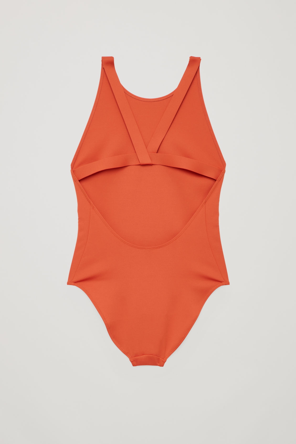 Side image of Cos twist-back swimsuit  in orange