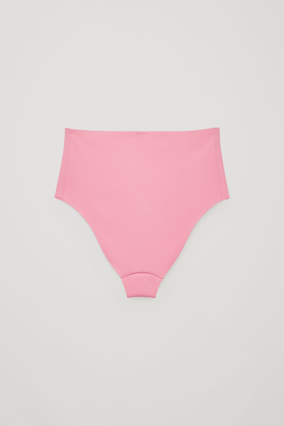 Side image of Cos high-waisted bikini bottoms   in pink