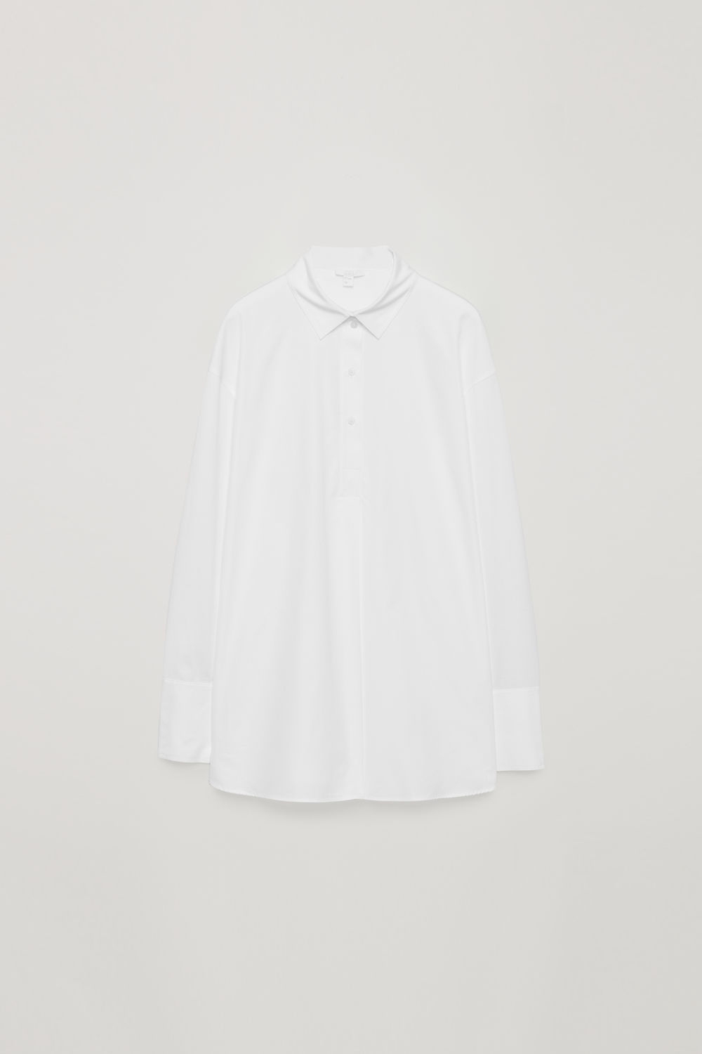 JERSEY-WOVEN SHIRT WITH PLEAT