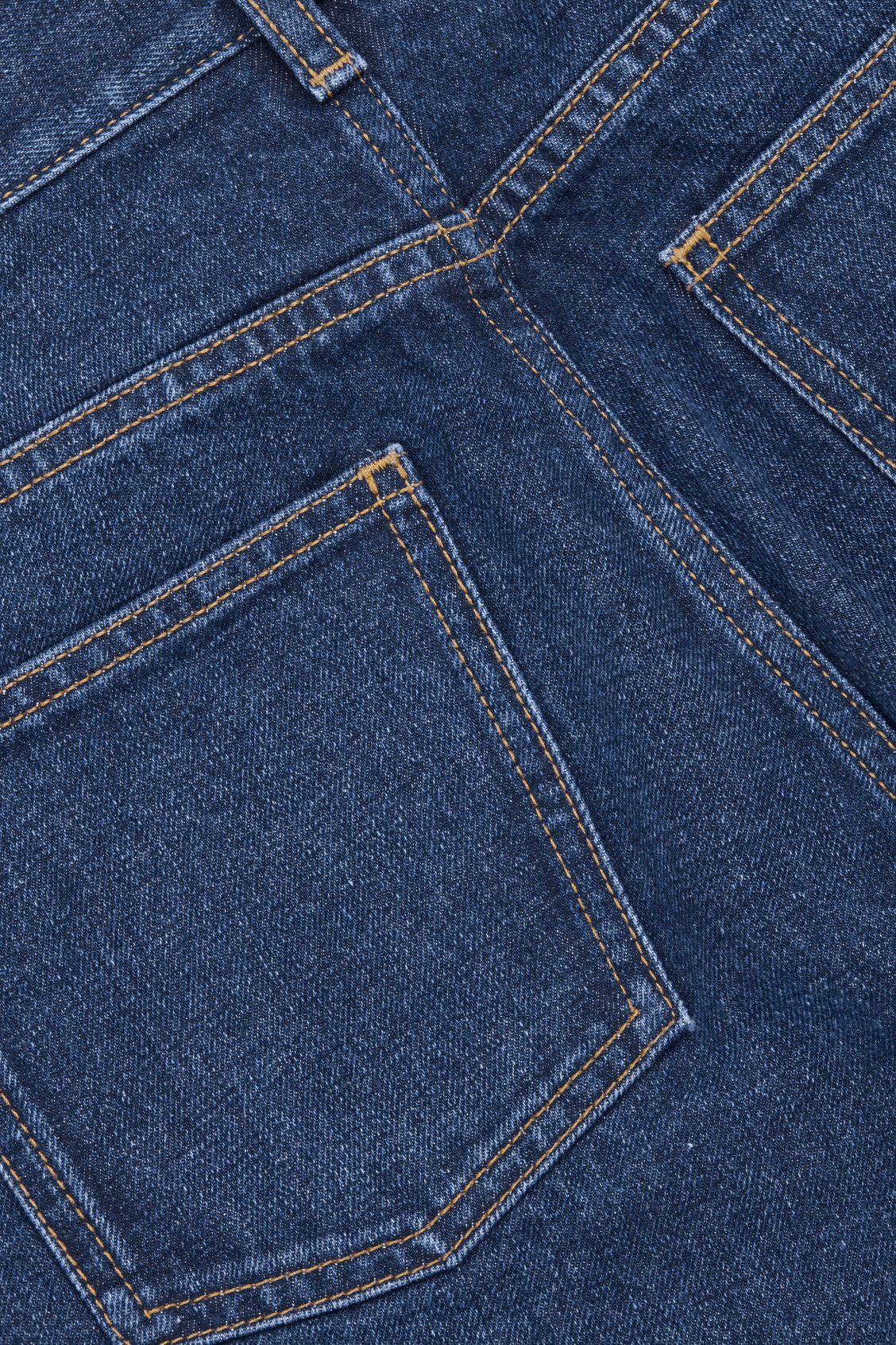 Side image of Cos 28 inch slim crop jeans in blue