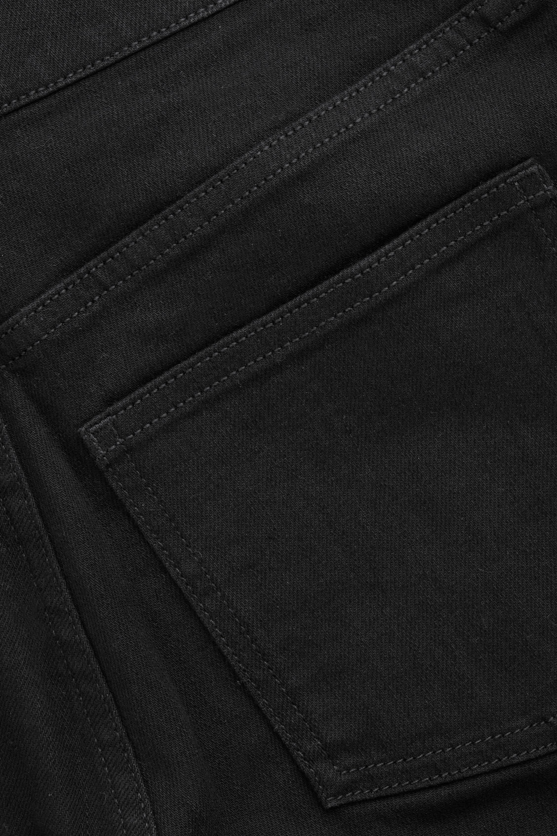 Side image of Cos 32 inch wide leg jeans in black