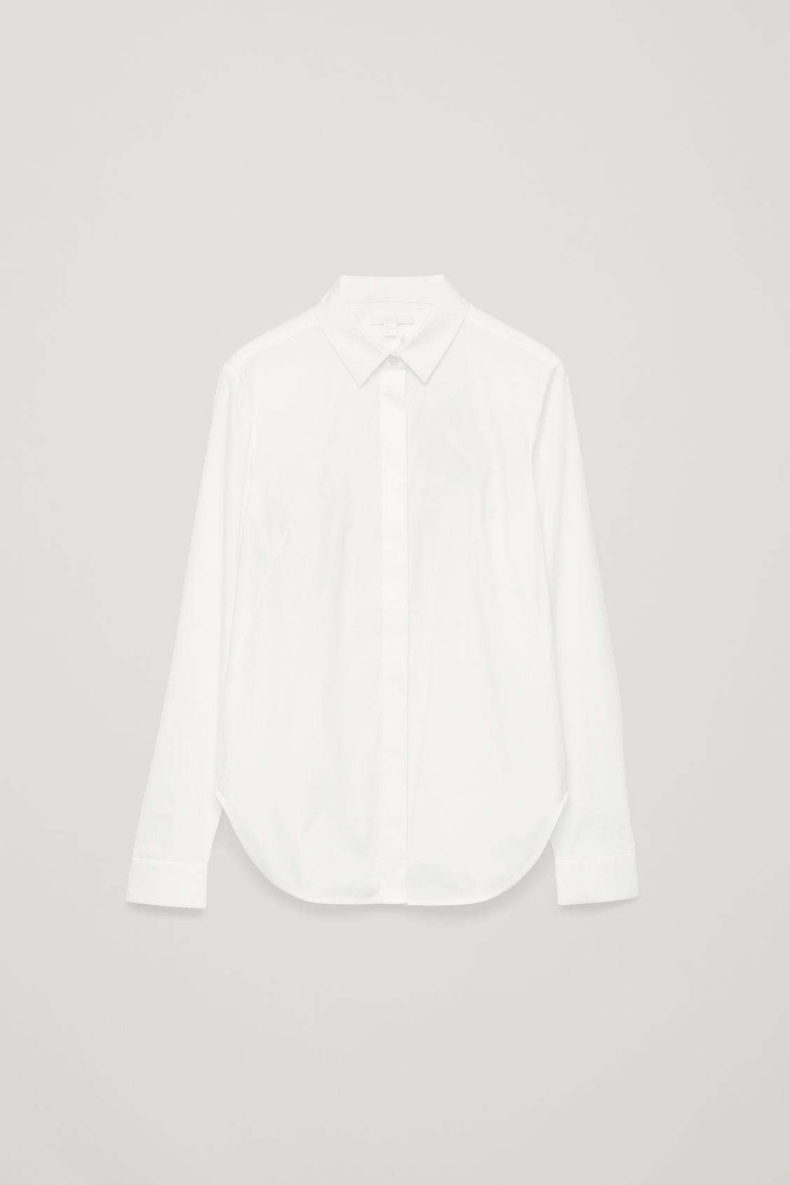 Front image of Cos slim-fit shirt  in white