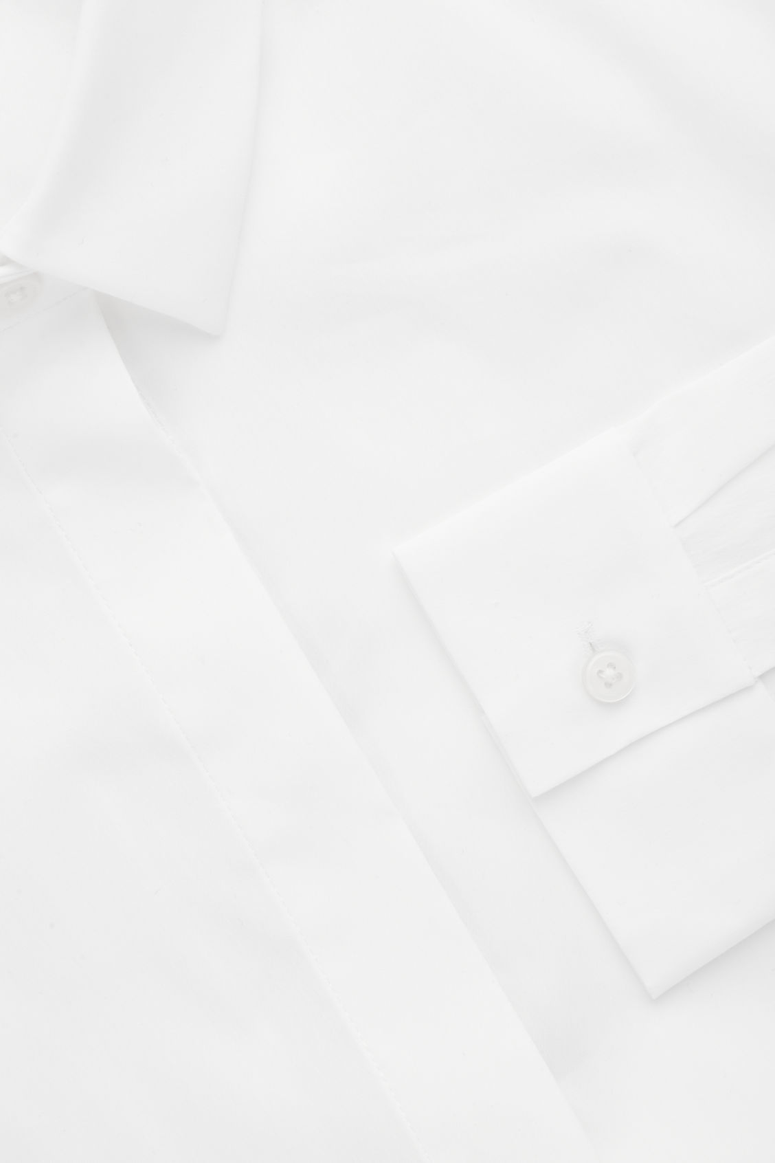 Side image of Cos slim-fit shirt  in white