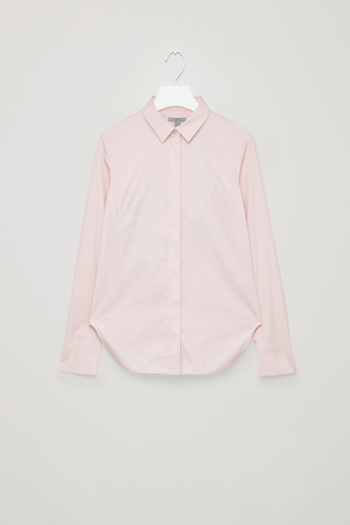Front image of Cos slim-fit shirt  in pink