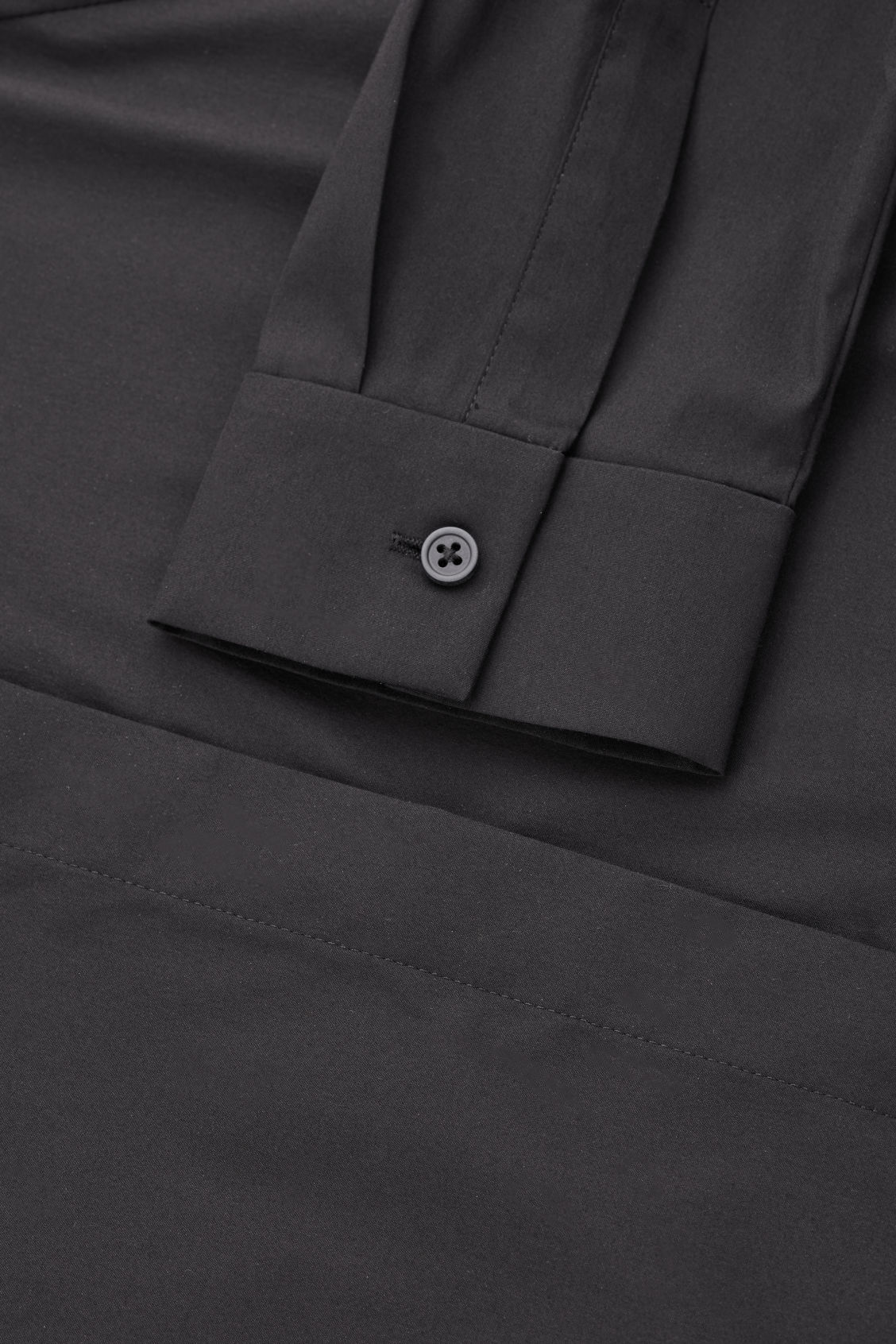 Side image of Cos slim-fit shirt  in black