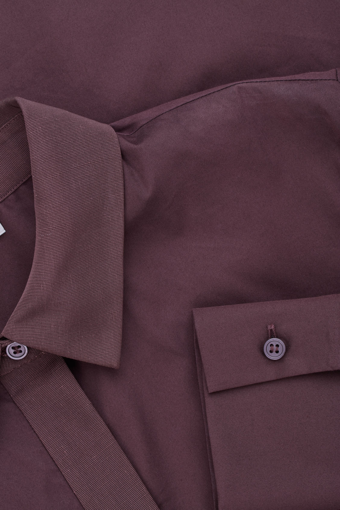 Side image of Cos handkerchief-hem shirt dress in purple