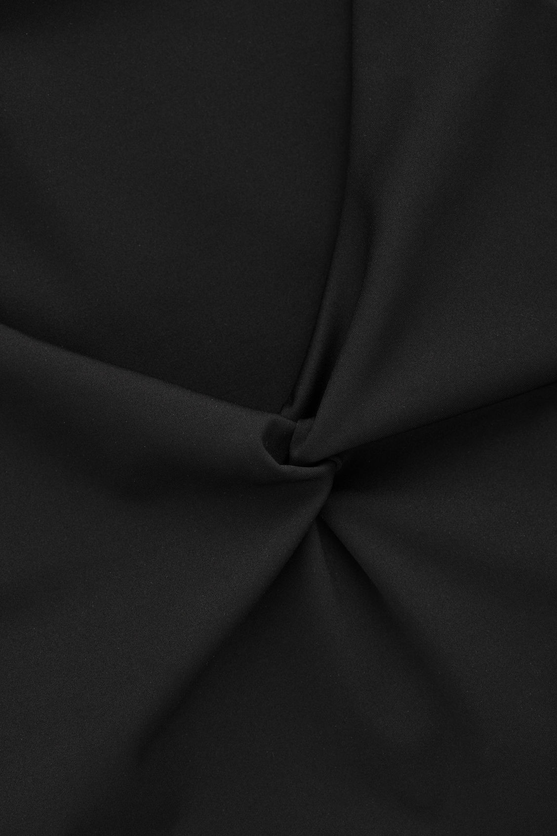 Side image of Cos twist-front swimsuit in black