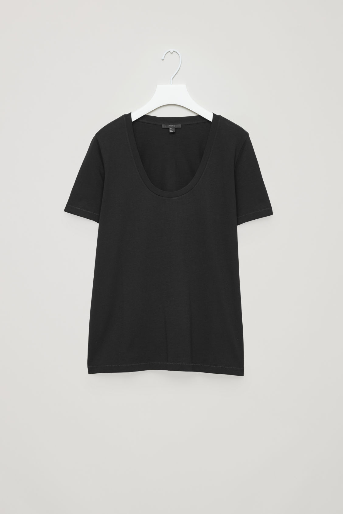 Front image of Cos pima cotton t-shirt  in black