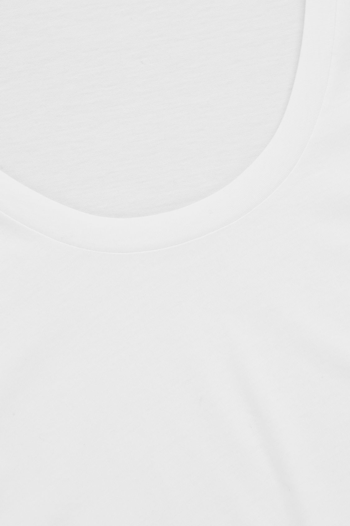 Side image of Cos pima cotton t-shirt  in white
