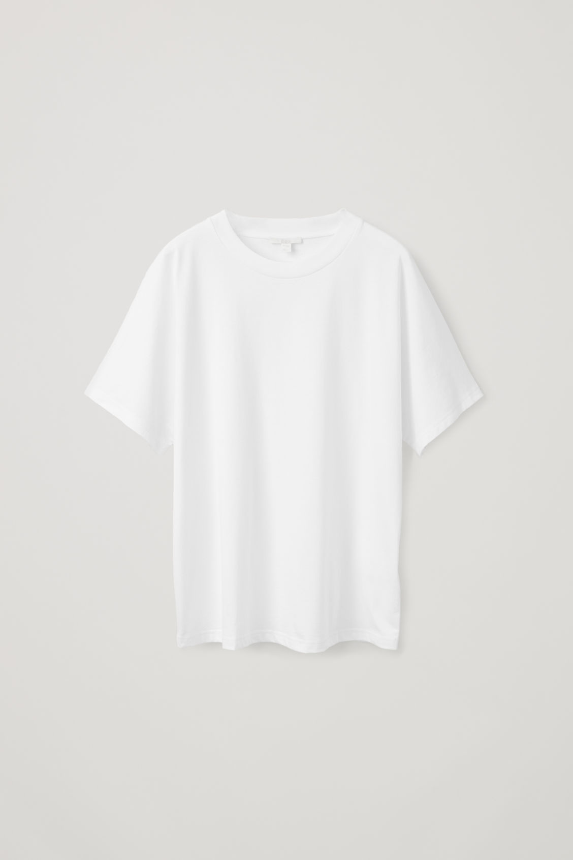 Front image of Cos relaxed kimono-sleeved t-shirt in white
