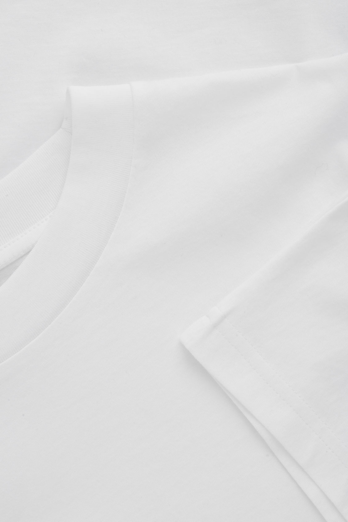 Side image of Cos relaxed kimono-sleeved t-shirt in white