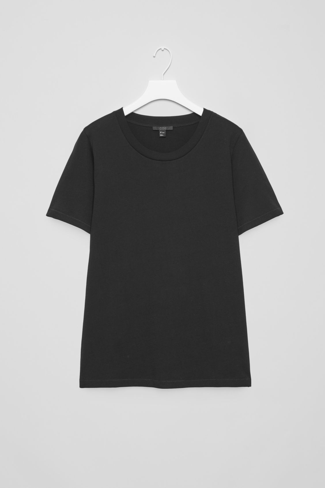 Front image of Cos pima-cotton t-shirt  in black