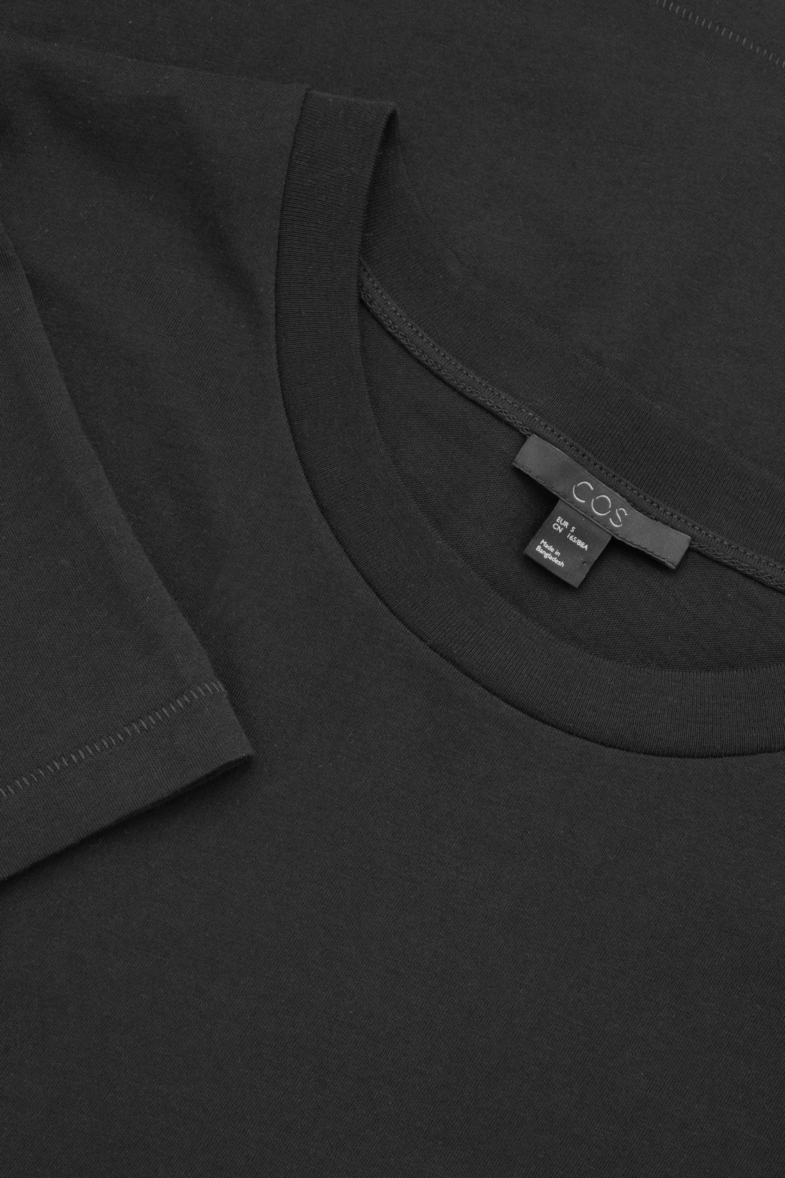 Side image of Cos pima-cotton t-shirt  in black