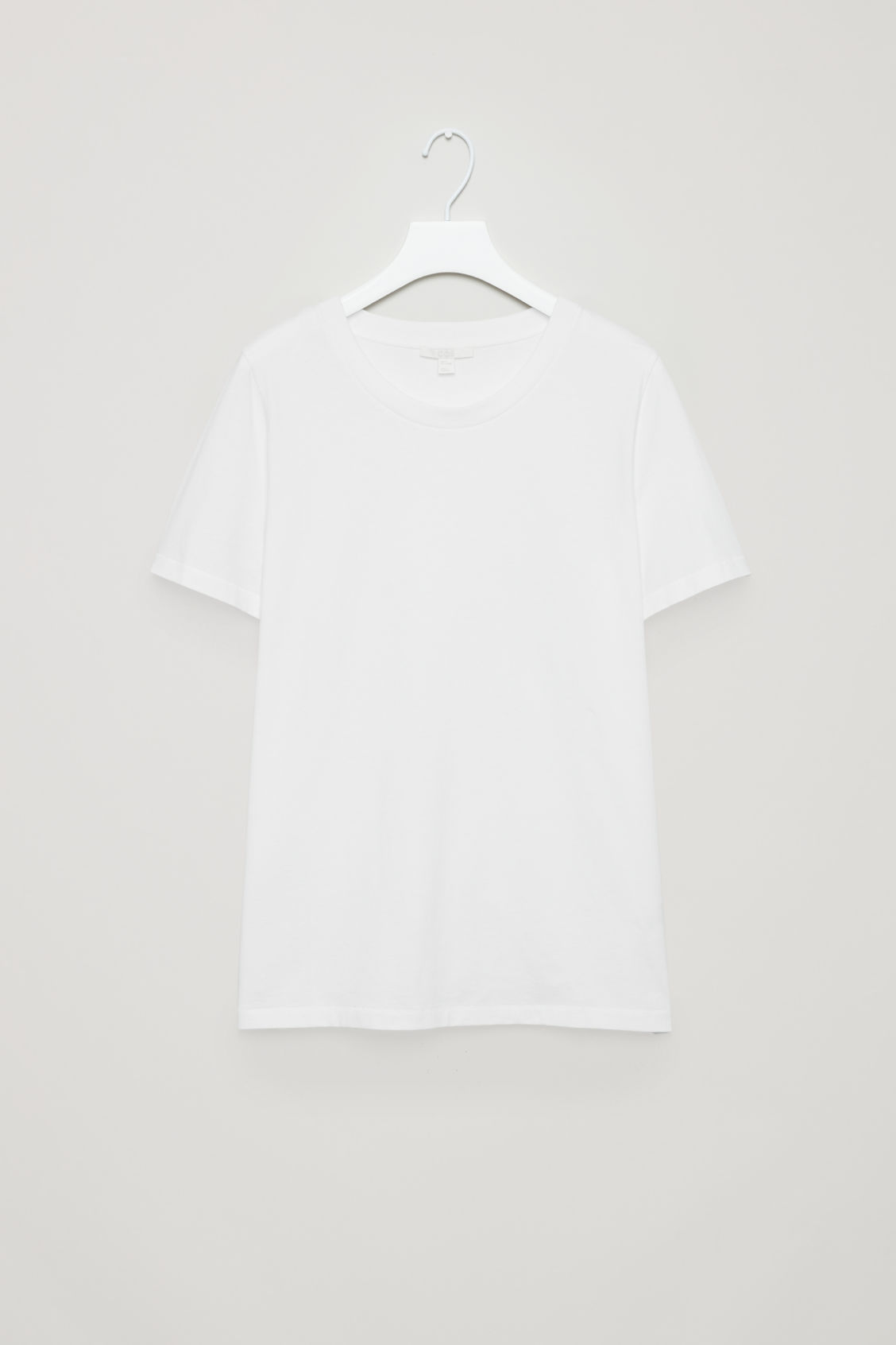 Front image of Cos pima-cotton t-shirt  in white