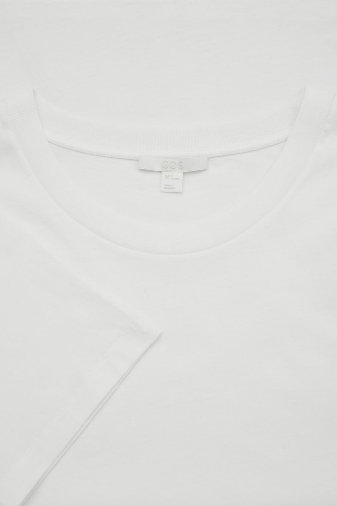 Side image of Cos pima-cotton t-shirt  in white