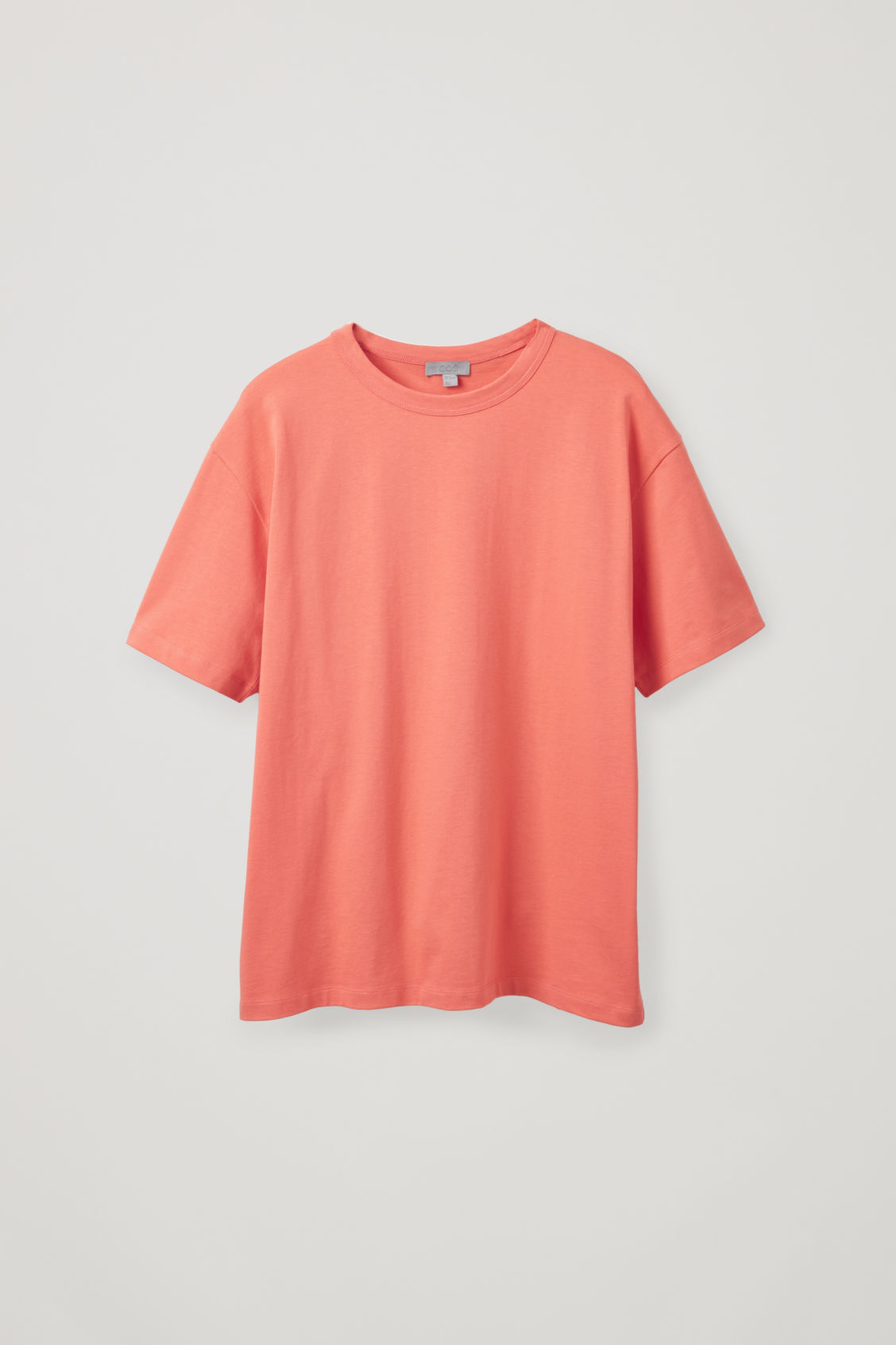 Front image of Cos long cotton t-shirt  in orange