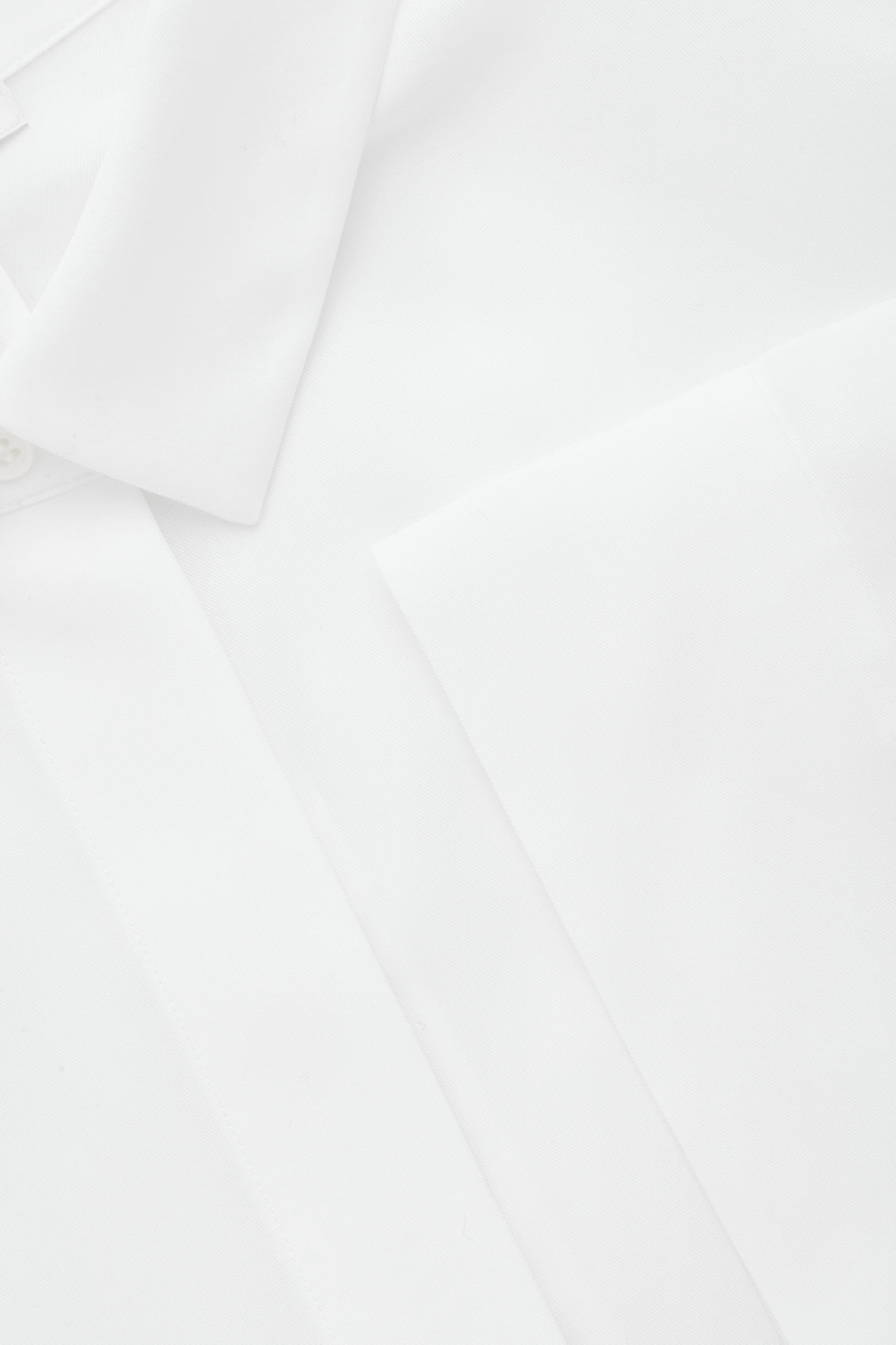 Side image of Cos draped wide-fit shirt  in white