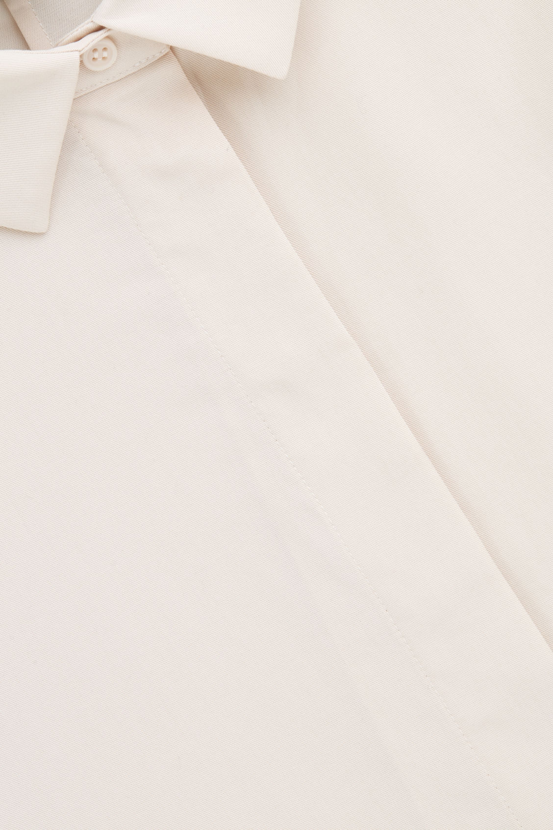 Side image of Cos draped wide-fit shirt  in beige