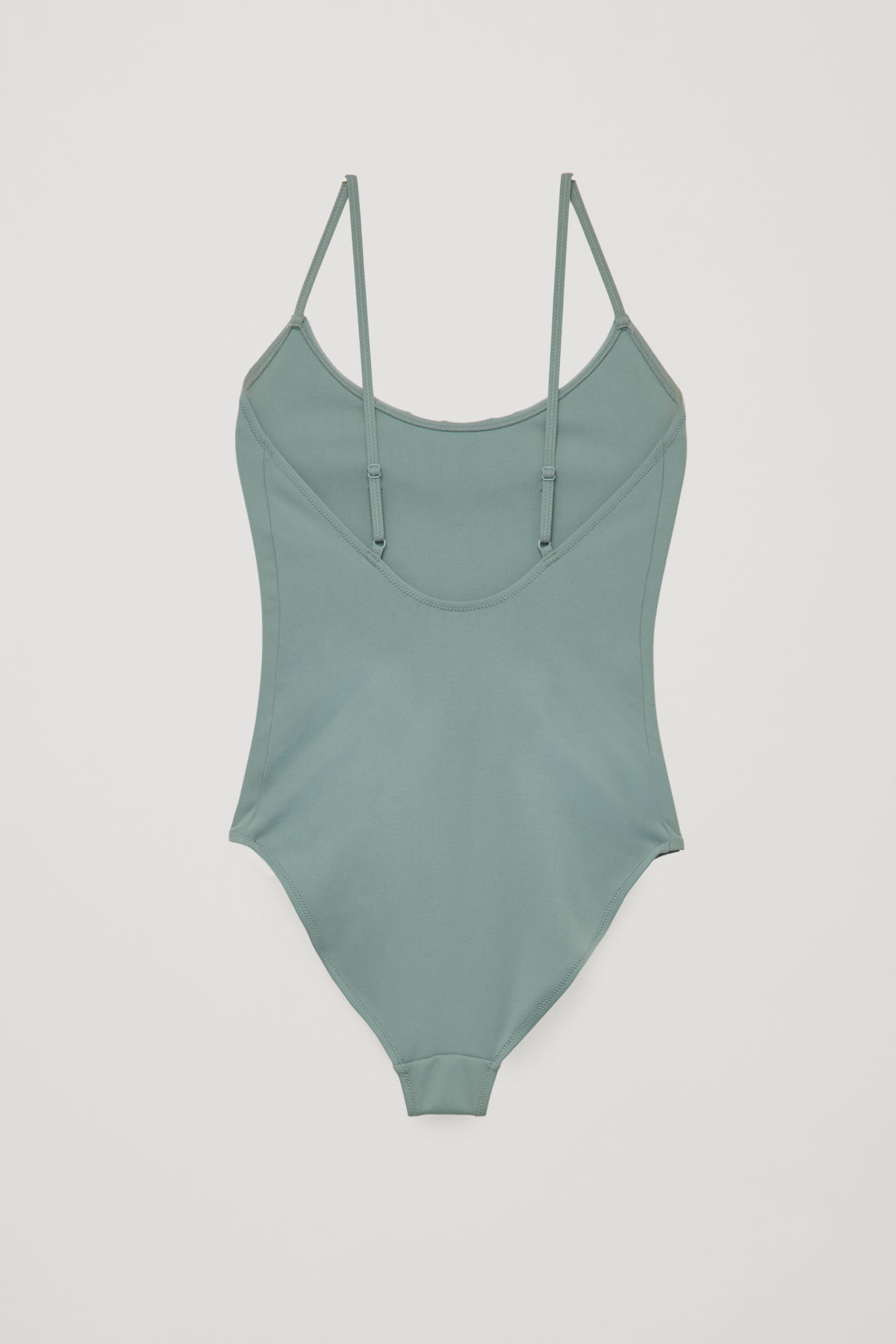 Side image of Cos frill detail swimsuit   in green