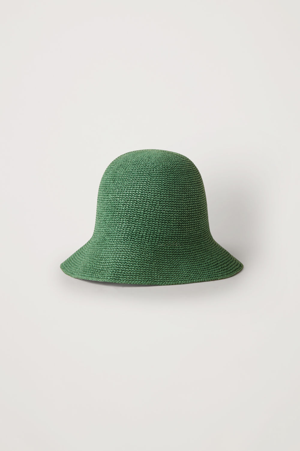 Front image of Cos crochet bucket hat in green