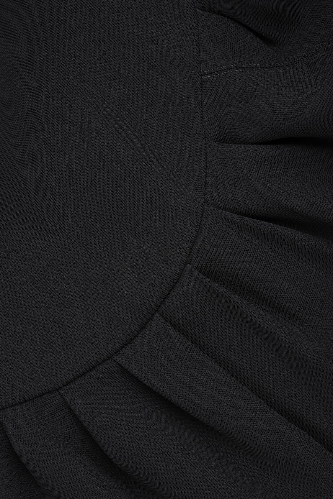 Side image of Cos sleeveless dress with pleats in black