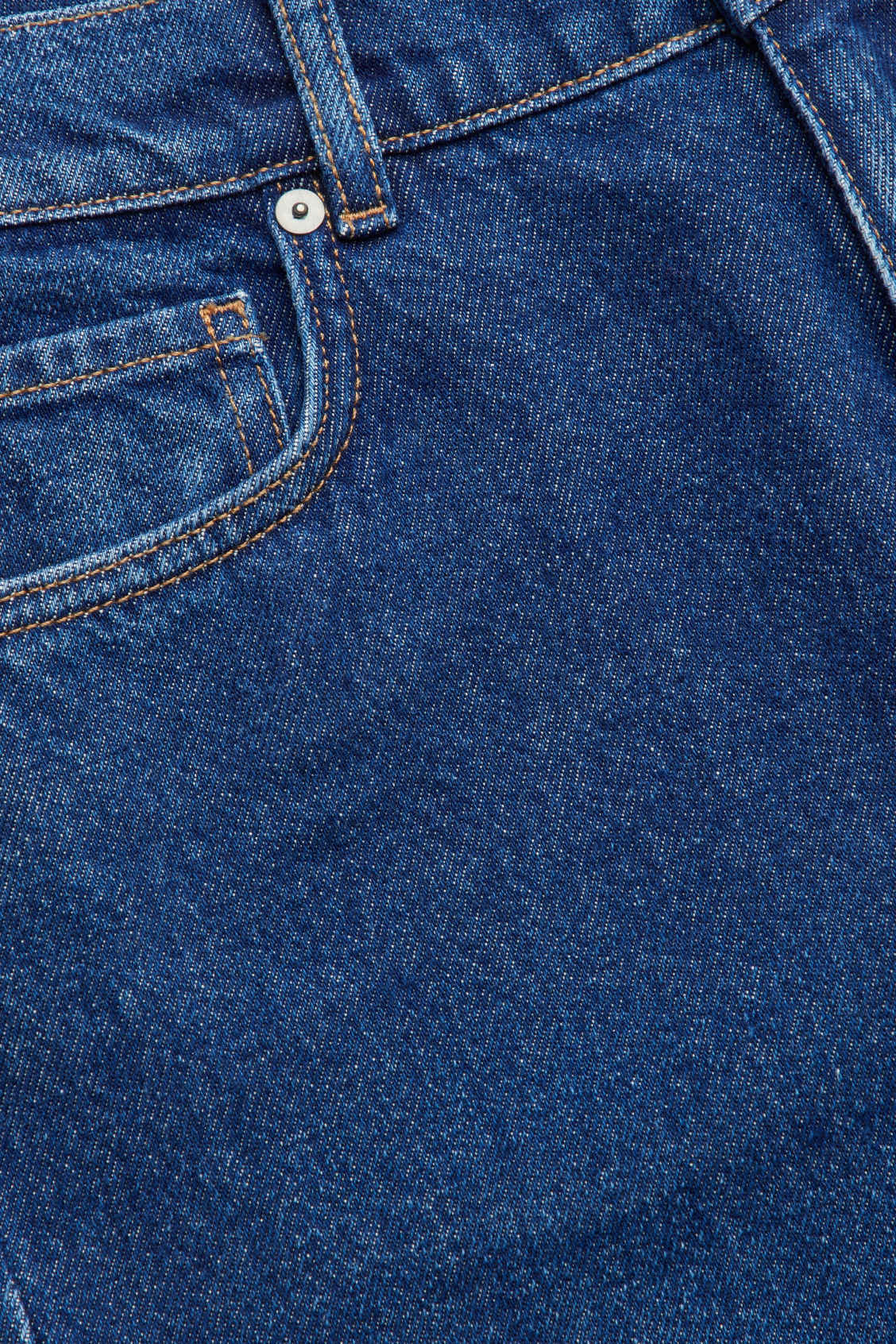 Side image of Cos straight cropped jeans in blue