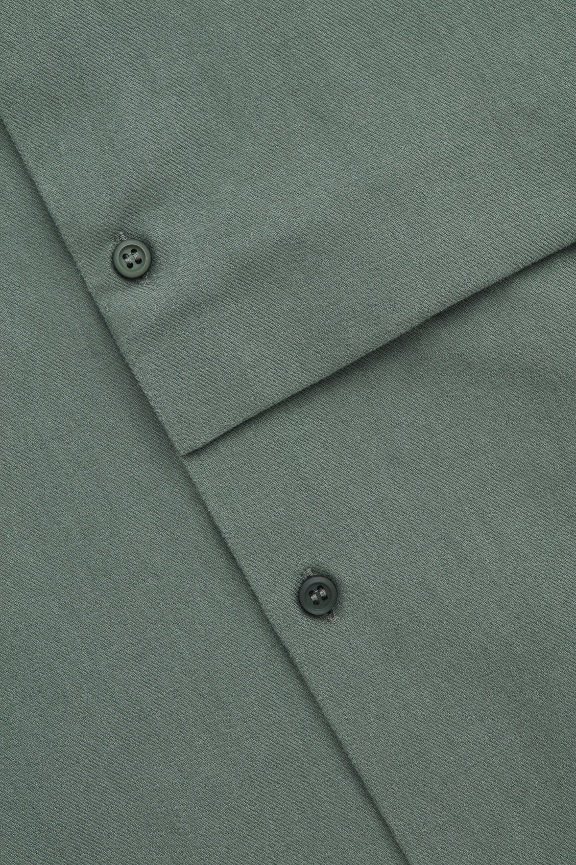 Side image of Cos grandad-collar shirt with pocket in green
