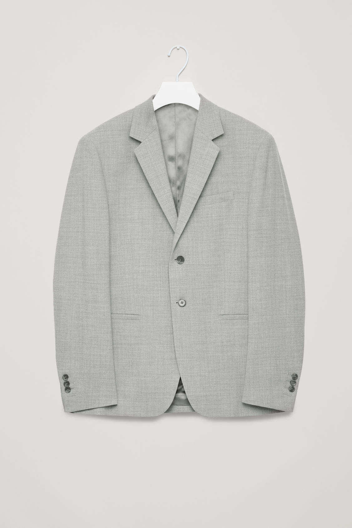 Front image of Cos higher-break wool blazer  in grey